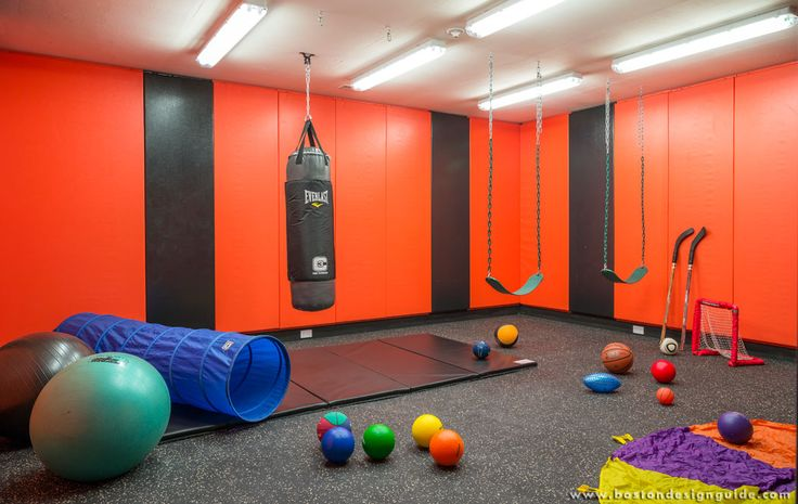 Finally Dont Be Afraid To Get Creative When Building A Home Gym The Untraditional Design Below Is Fun And Family Friendly