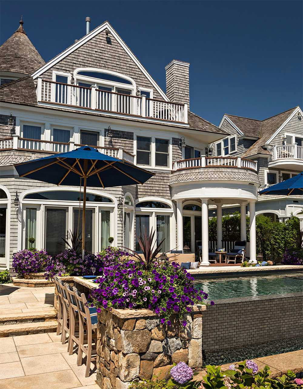 Beachside landscape architecture Nantucket Sound, New England beach homes