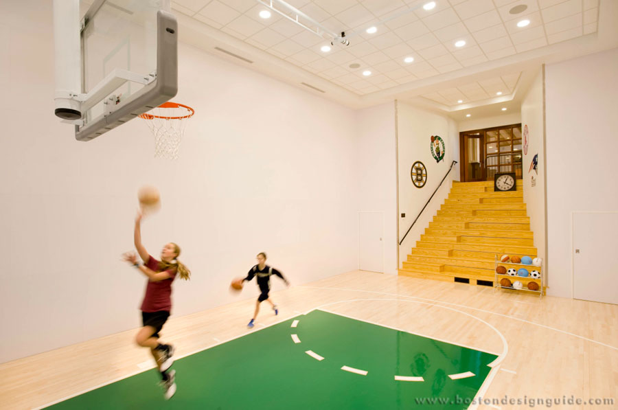 Home court advantage indoor hoops boston design guide for Indoor basketball court design