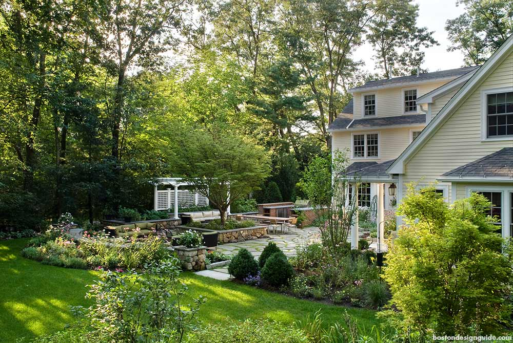 Luxury home landscapes in New England