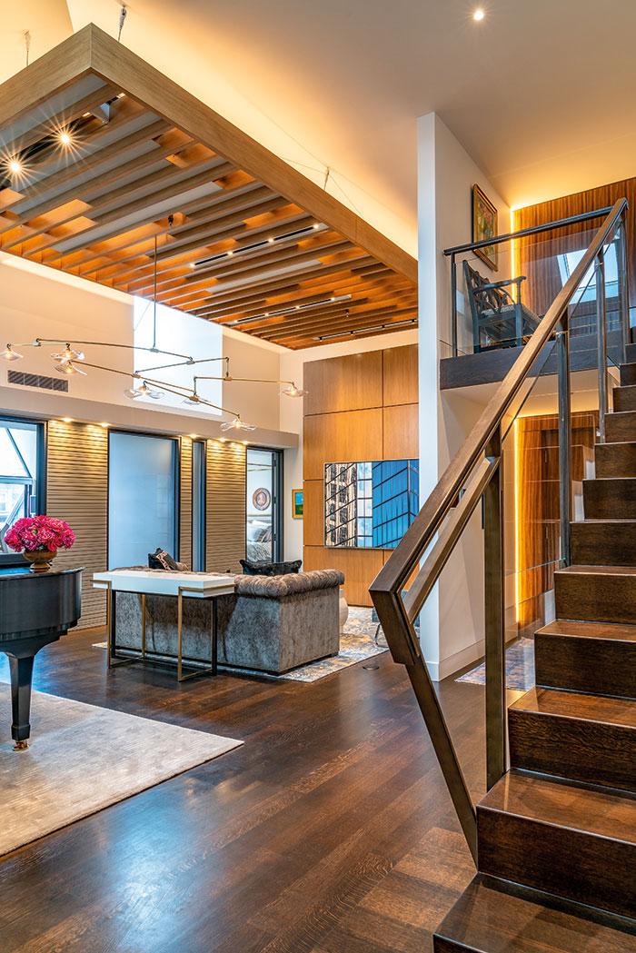 Urban contemporary penthouse renovation