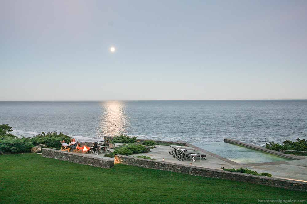 landscape construction and architecture on the oceanfront