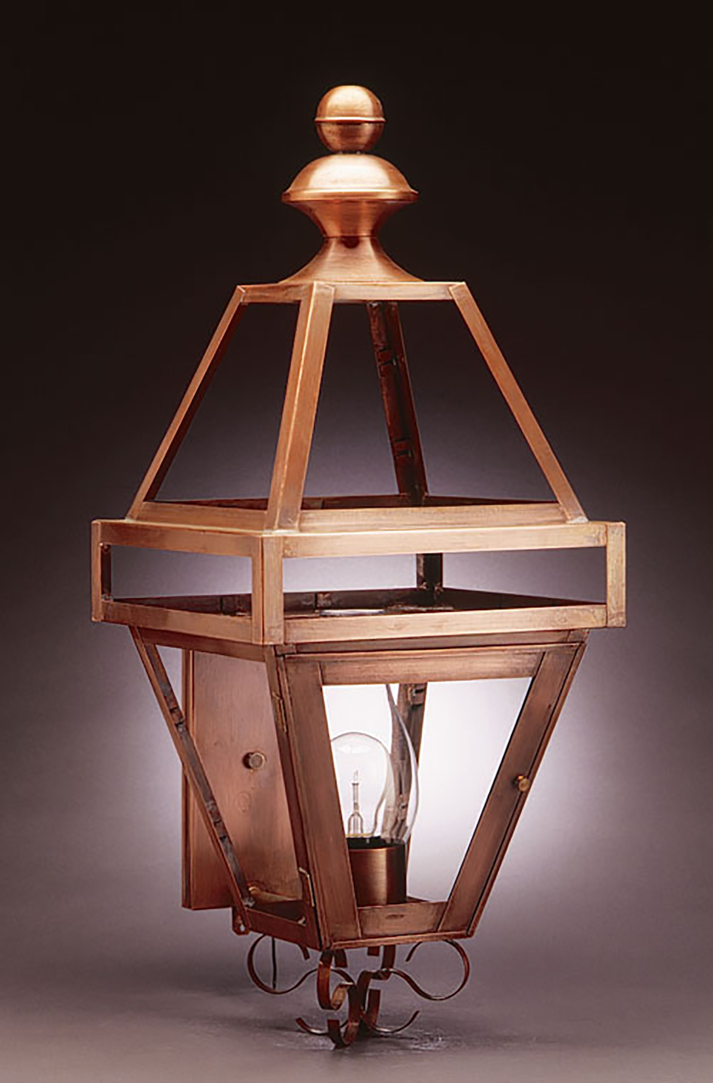 High-end copper lantern