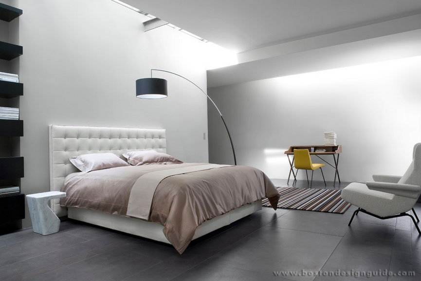 trending arc floor lamps boston design guide. Black Bedroom Furniture Sets. Home Design Ideas