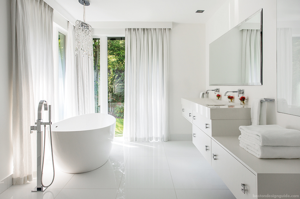 all white bathroom design