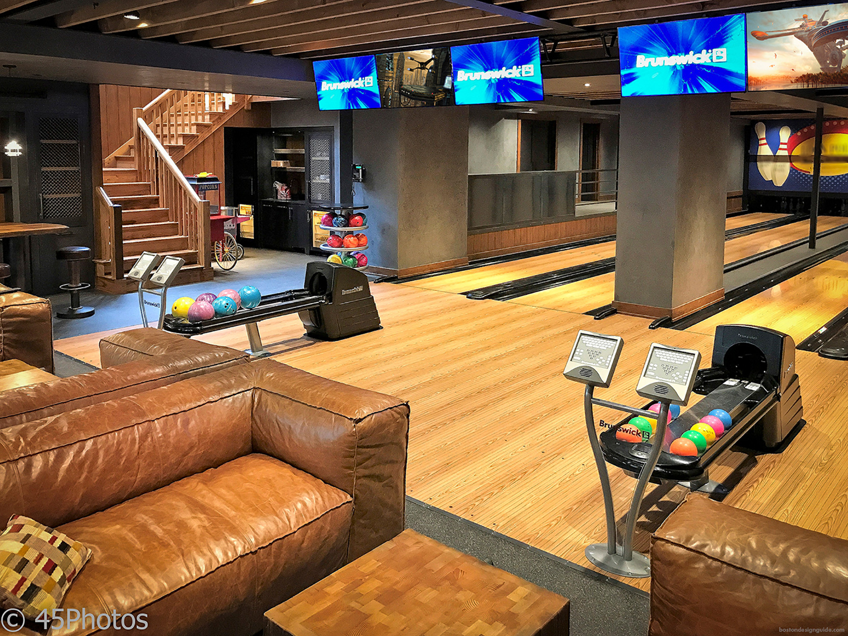 in-home bowling alley