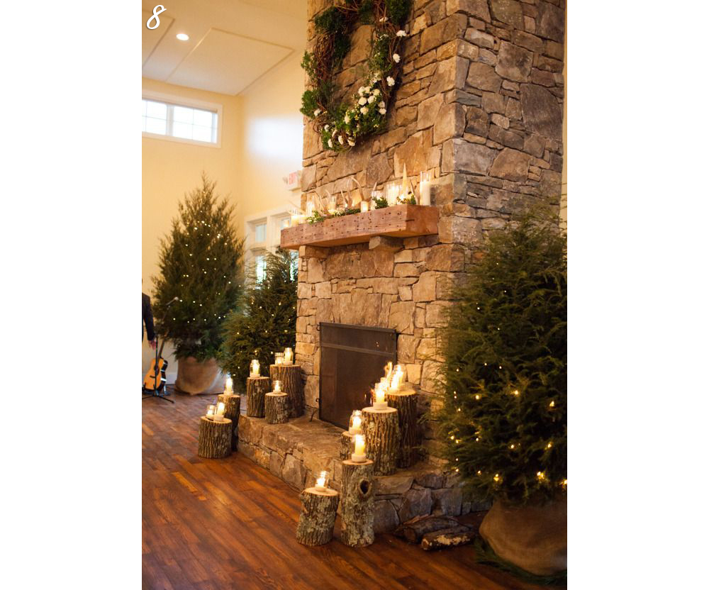 Fireplace Holiday Setup