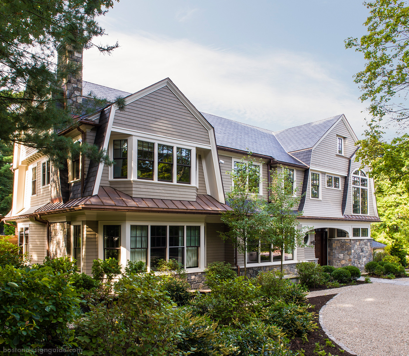 High-end homes near the Boston Marathon route