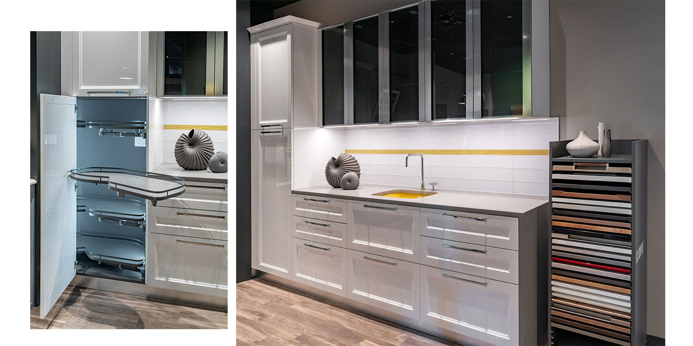 """Interiology Design Co.'s """"Marilyn Kitchen"""" featuring Composit cabinetry"""