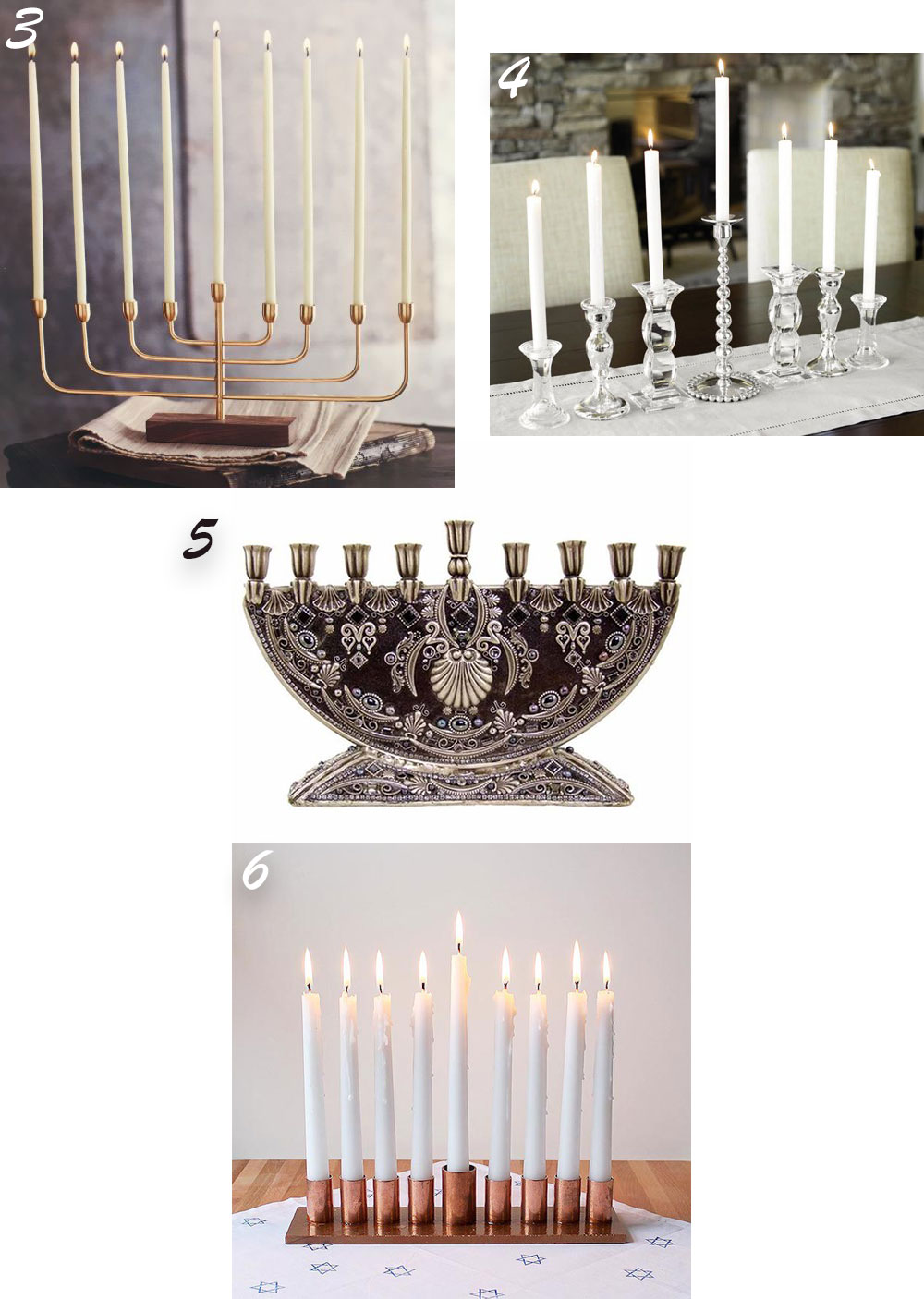 Creative DIY Menorah Ideas