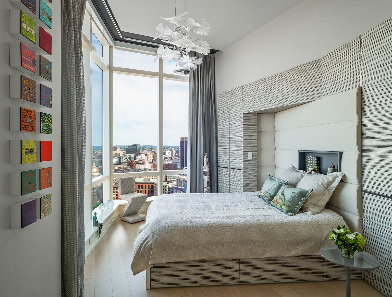 Luxury high-rise bedroom design