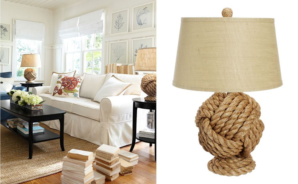 Pottery Barn lamp and accessories