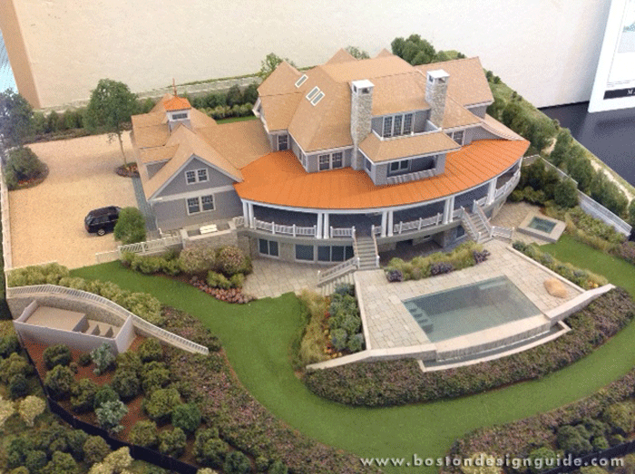 Featured project a cape cod captain house boston design for Cape cod model homes