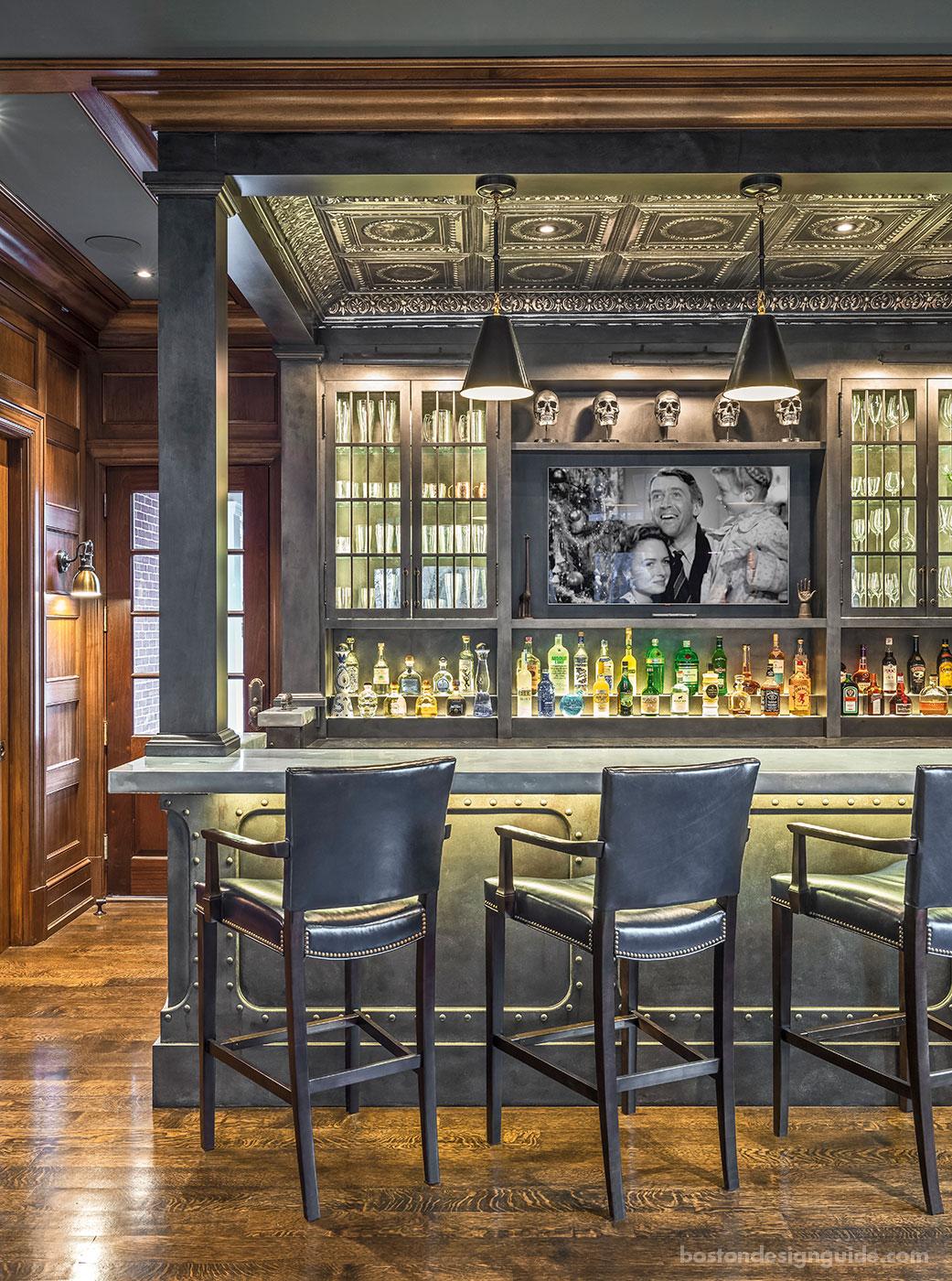 Custom Steampunk bar design in Boston