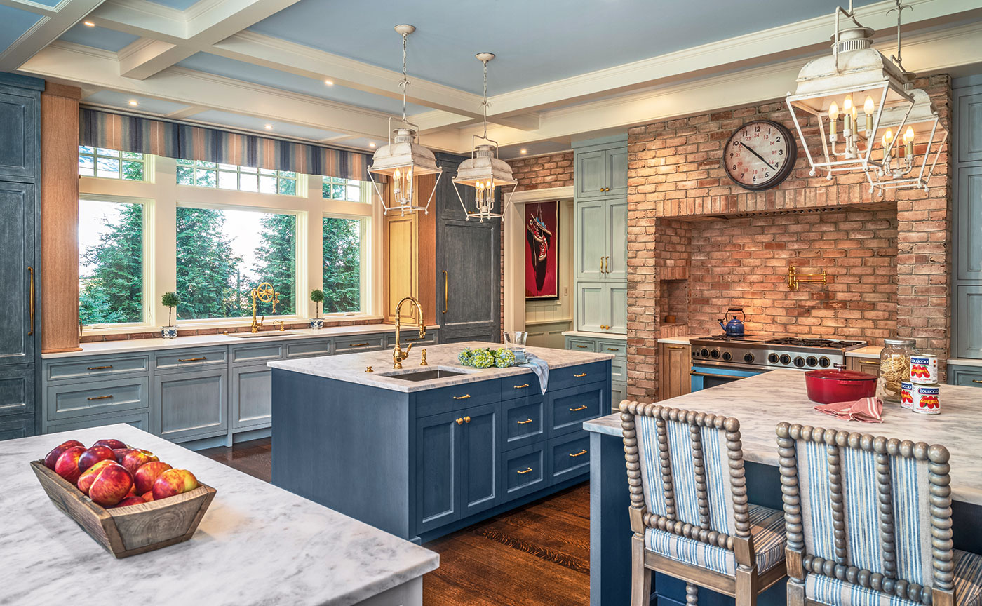 High-end English-style kitchen design