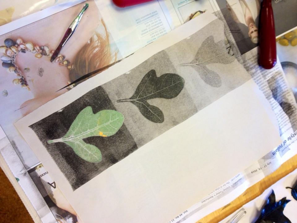 printmaking workshop on Nantucket