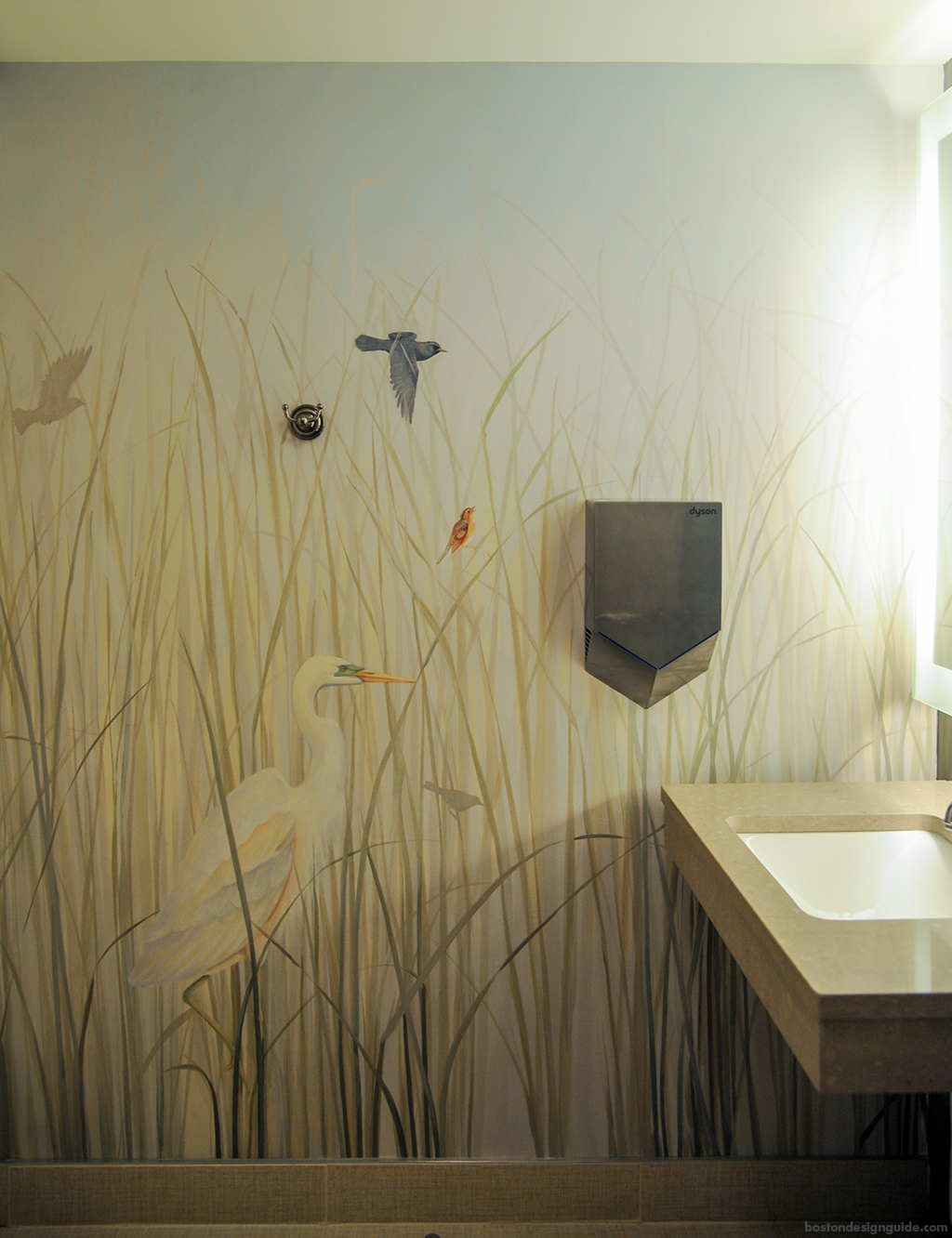Nantucket Culinary Center, bathroom design, mural painting