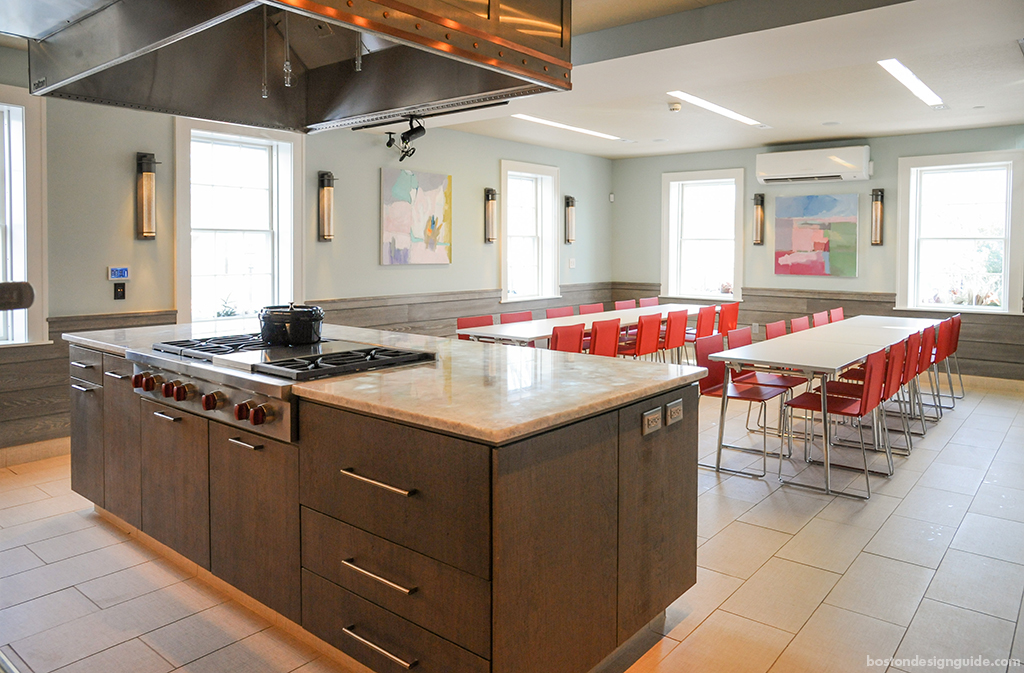 Kitchen island design in New England