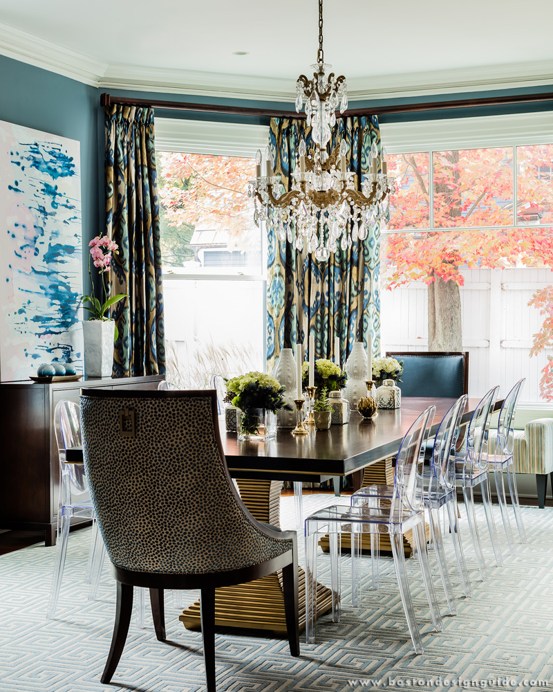 Interior Design using trending pantone Colors for spring, New England, Dining Room Interior Design