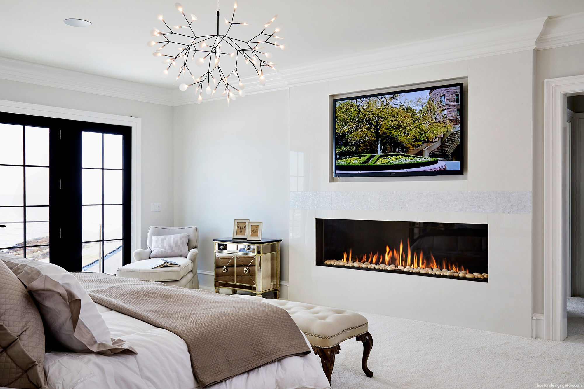 Heat up your interiors with a contemporary fireplace - Modern fireplace living room design ...