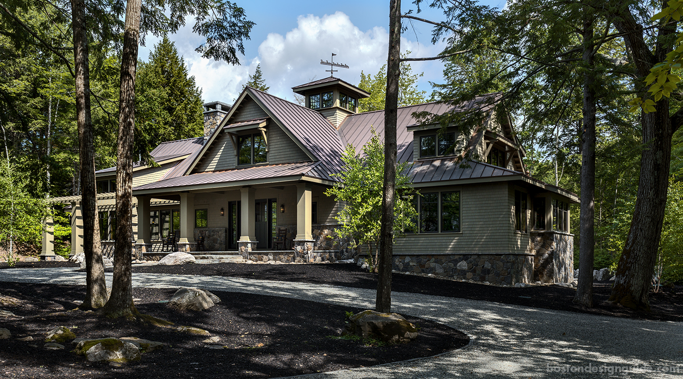 high-end New England architects, recreation lodge