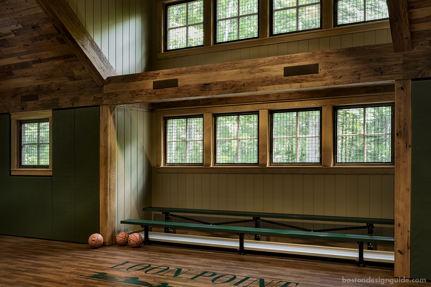 high-end New England architects, basketball court