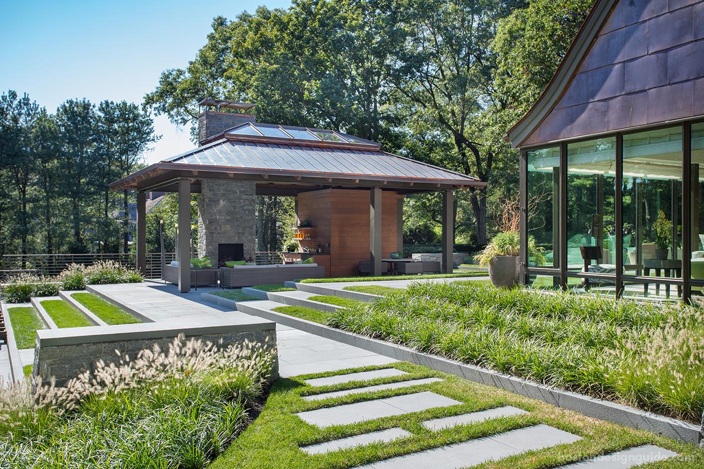 high-end Boston architect, pool house