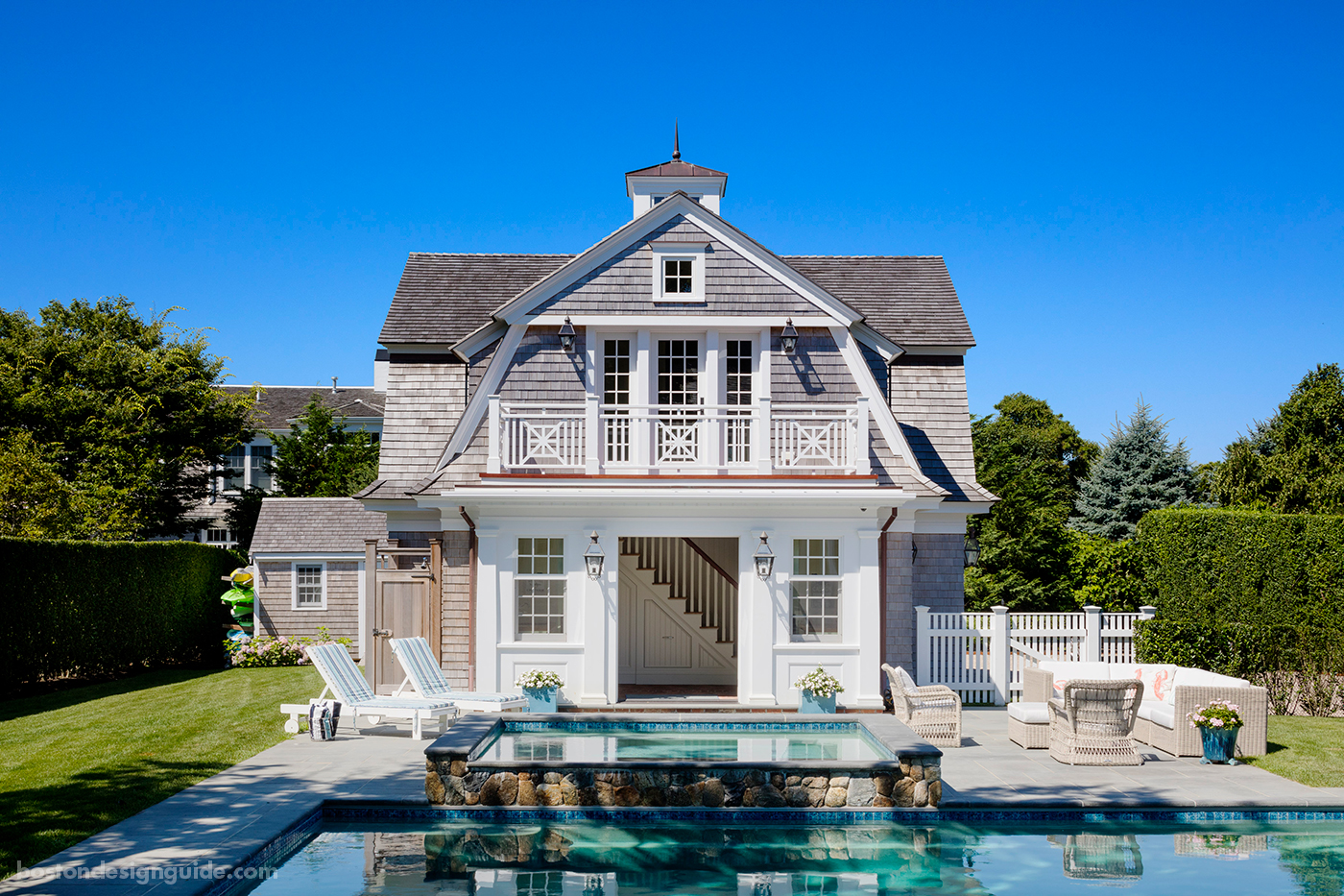 high-end Boston architects, pool cabana and carriage house