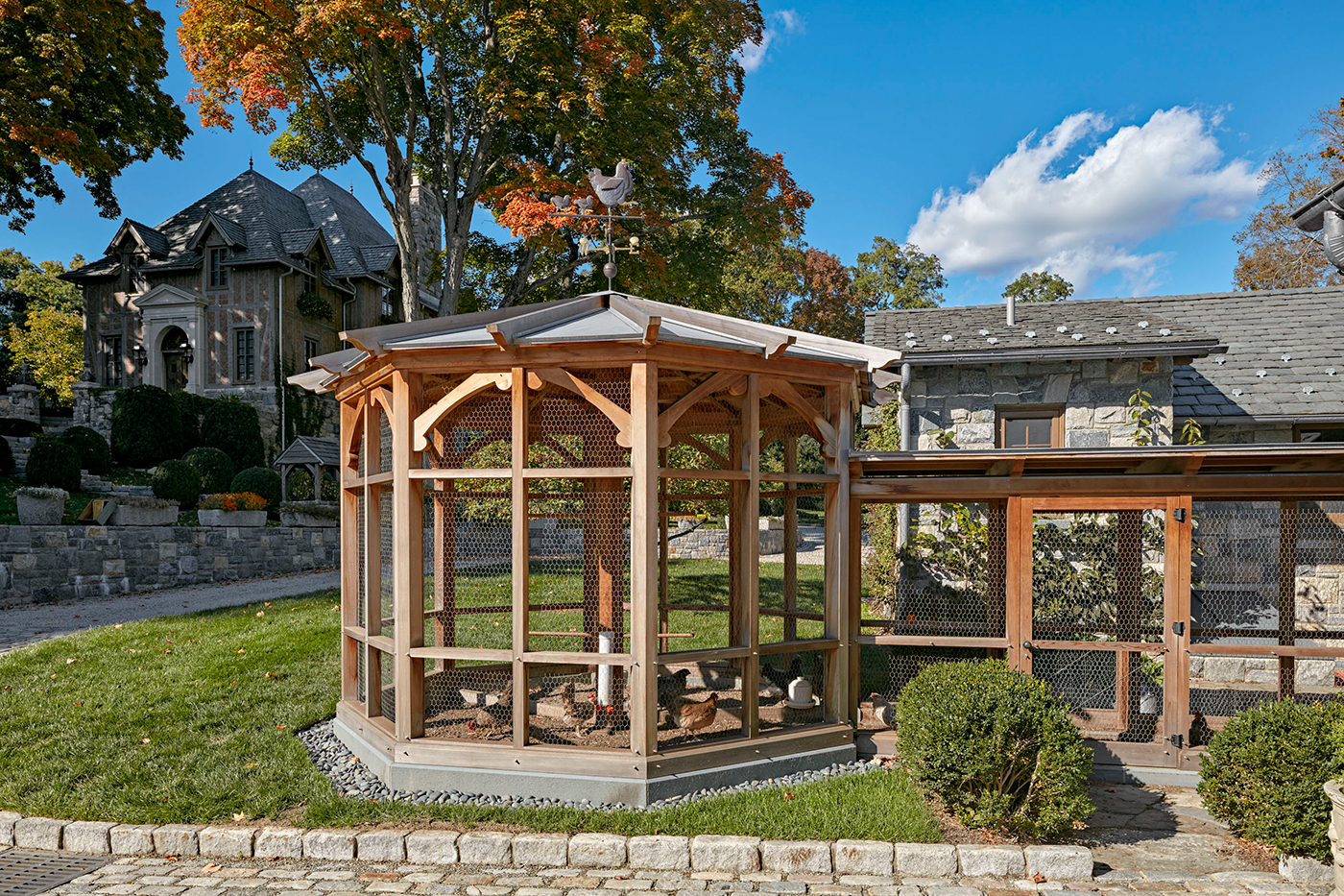 high-end New England architects, chicken coop
