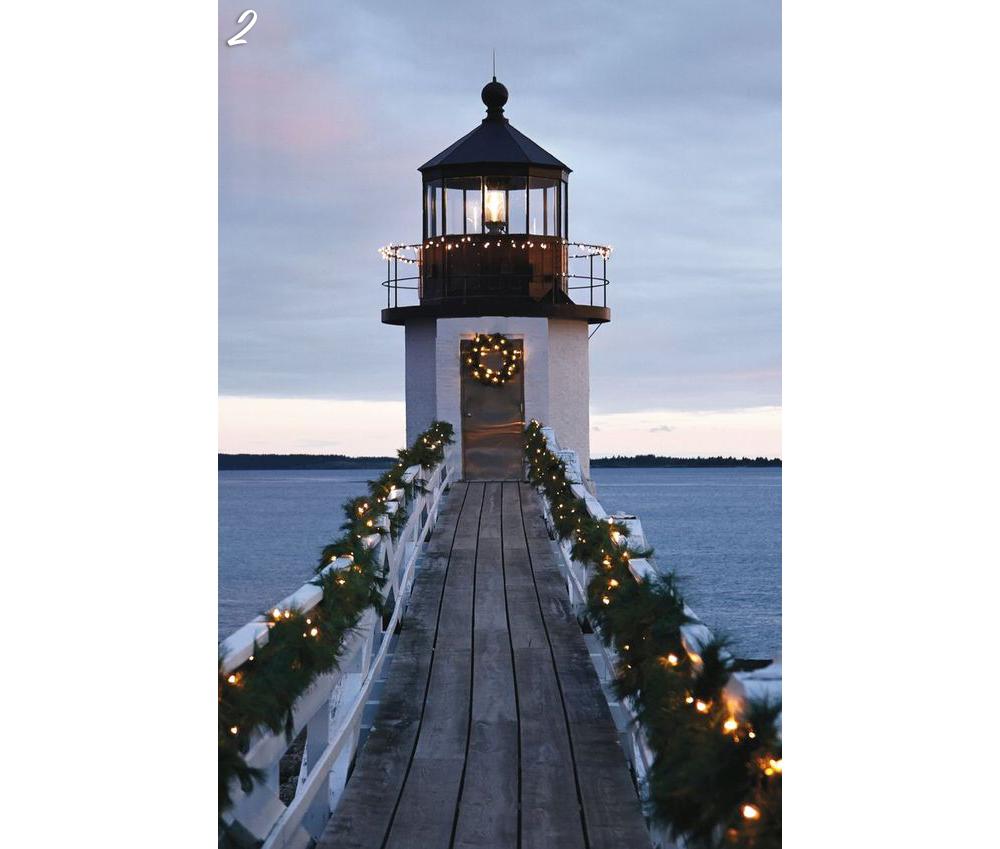 Holiday Lights Cupola Lighthouse