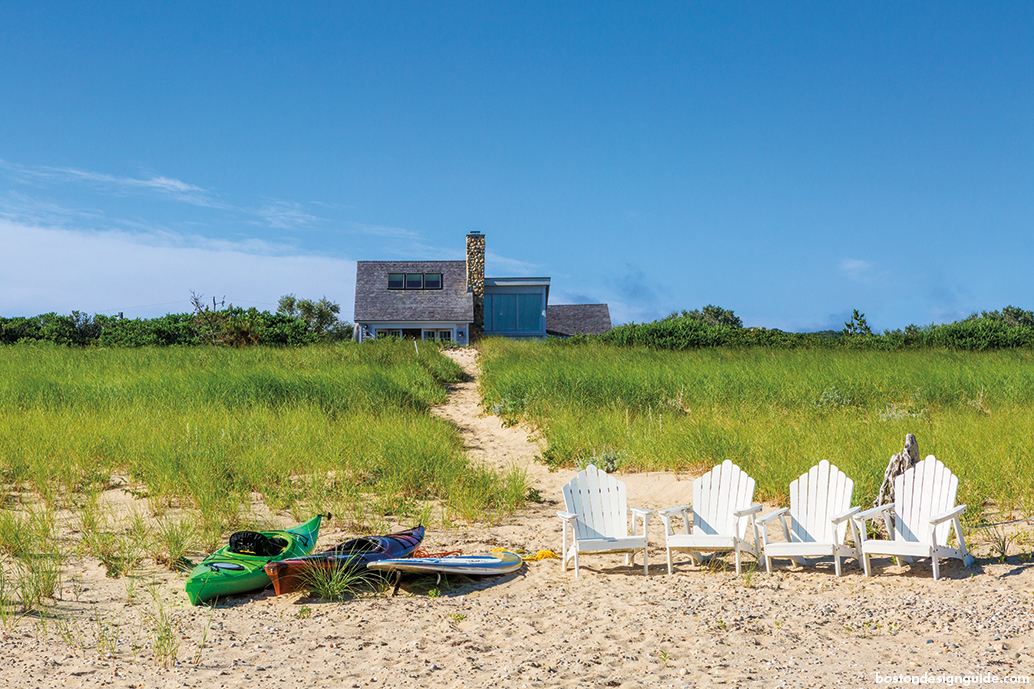 residential home architecture on the beach