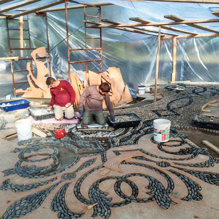 How Ernie Boch Jr.'s Pebble Terrace was made