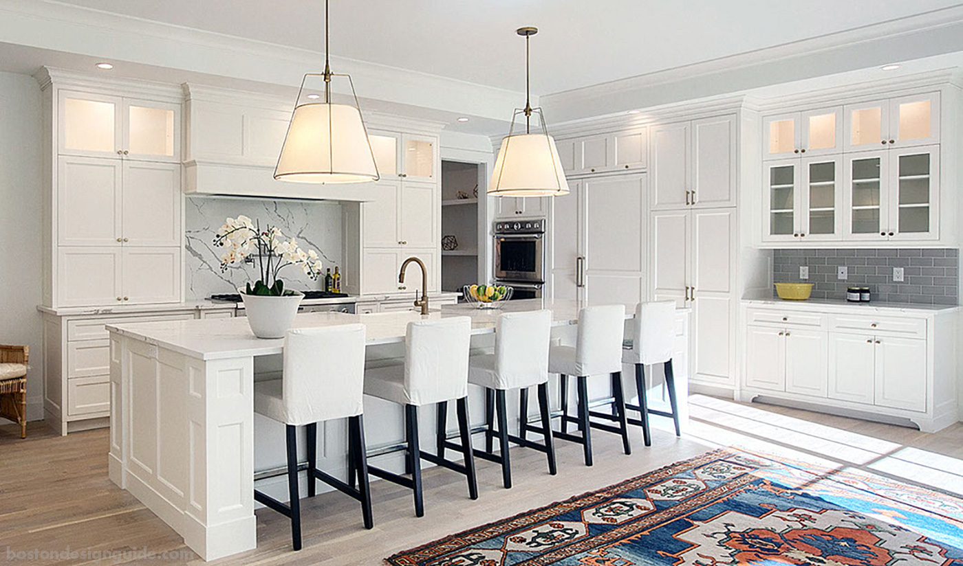 High-end white kitchen
