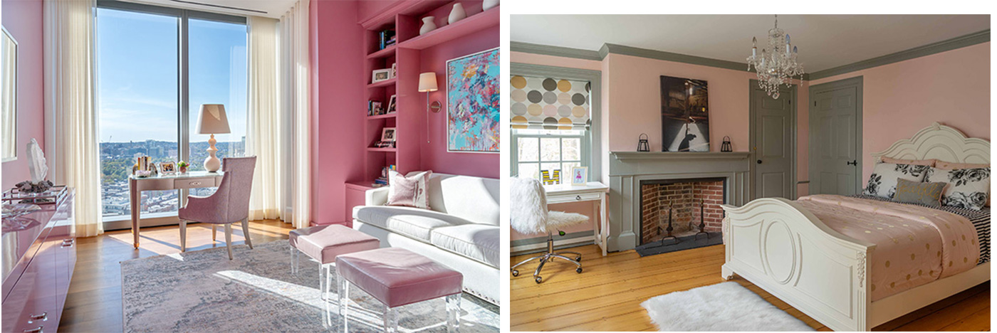 Petal pink interior designs in honor of Valentine's Day