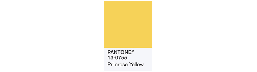 PANTONE Spring 2017 Fashion Color Report, Primrose Yellow