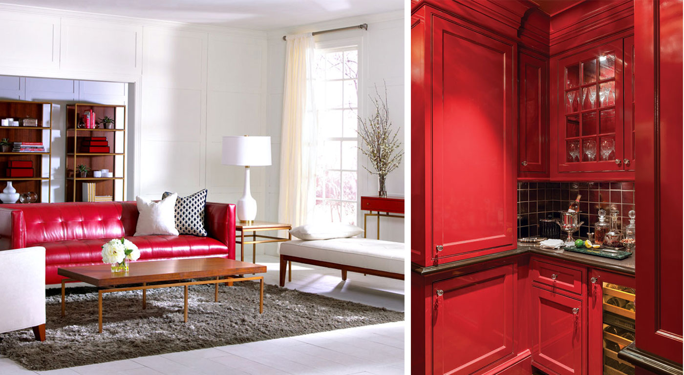Pinks and red interiors in the home, inspired by Valentine's Day