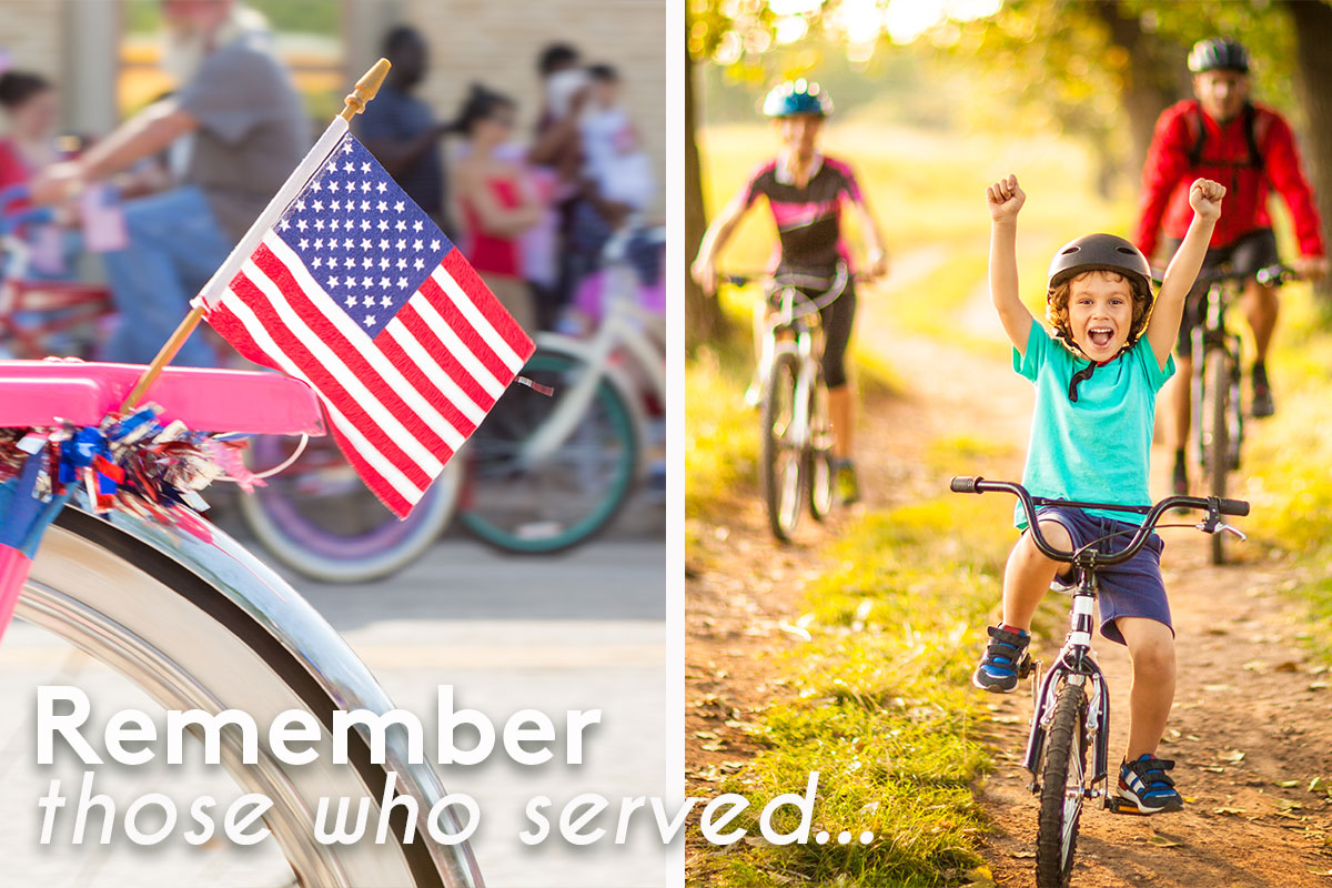 Remember those who served our country with a bike ride