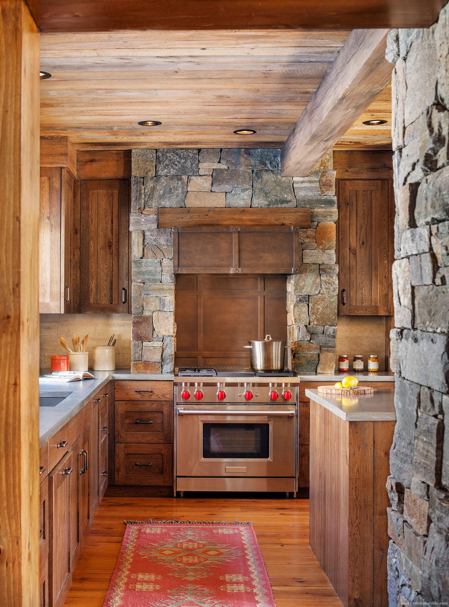 wooden ski homes