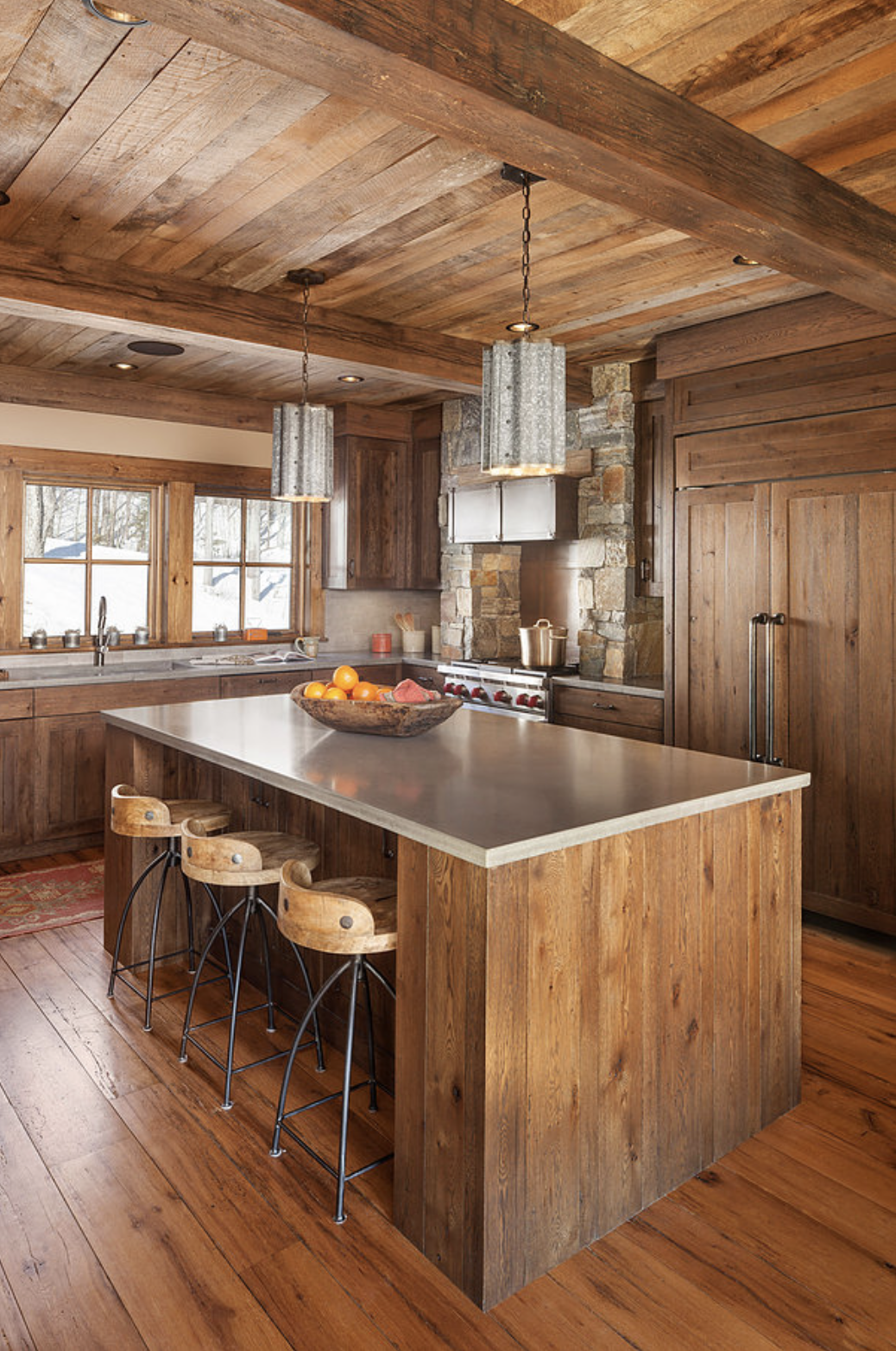 9 Of Our Favorite Rustic Kitchens With Exposed Wood Beams Boston Design Guide