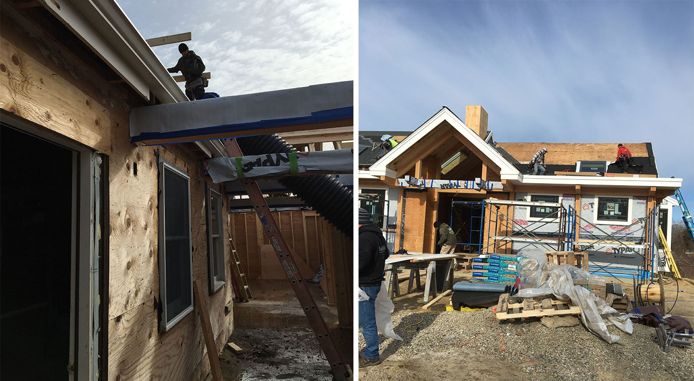 Roofing on the renovation of a multi-use rehearsal building renovated by Architectural Design, Inc. and AD Build LLC