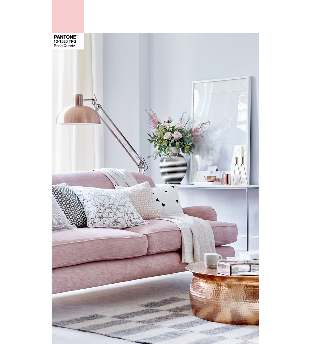 Pantone Rose Quartz Home Design