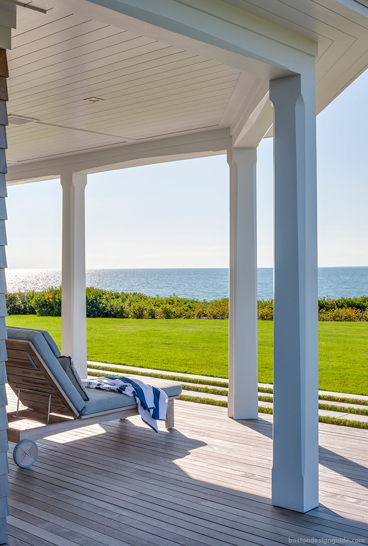 Oceanfront deck with views