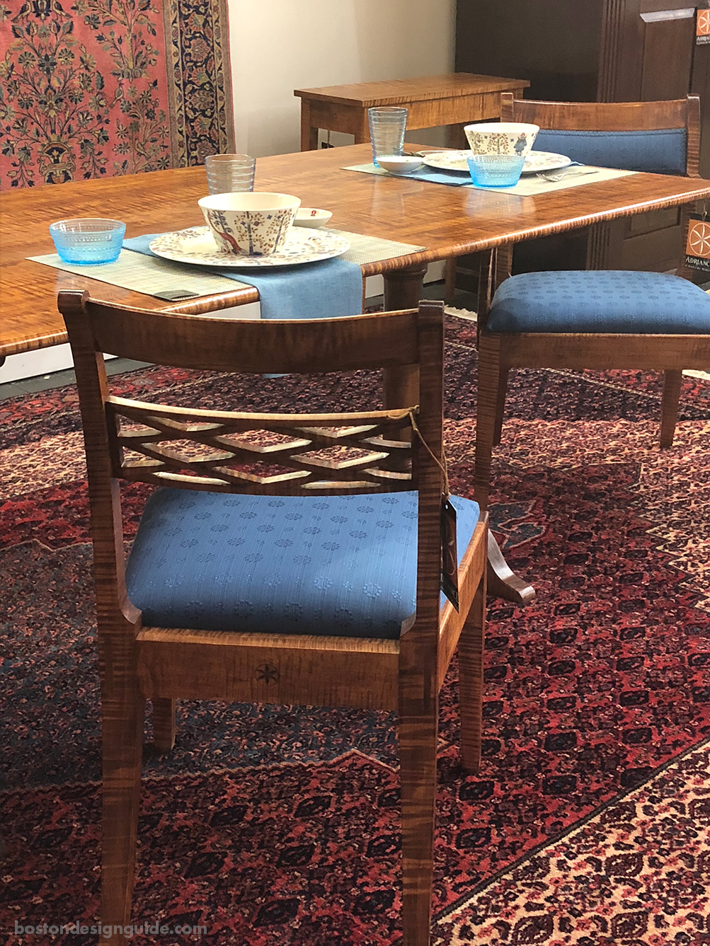 Oriental rug with wood furniture