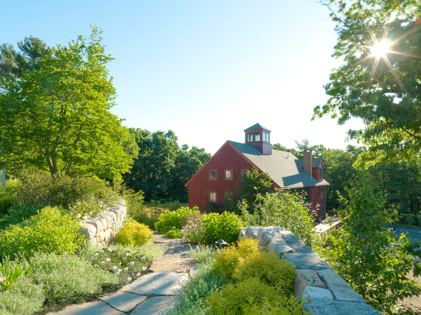 Rustic high-end landscape design by Gregory Lombardi Design