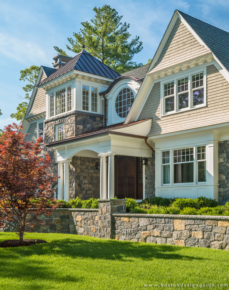 New england classics a weston home with natural beauty for Building a house in ma