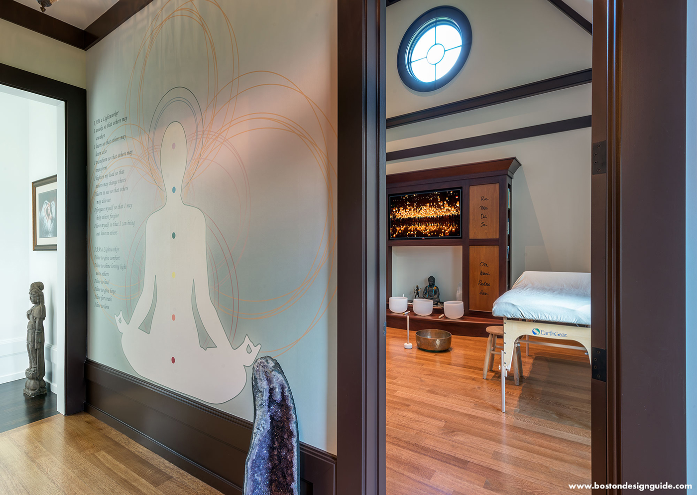 High-end custom yoga room