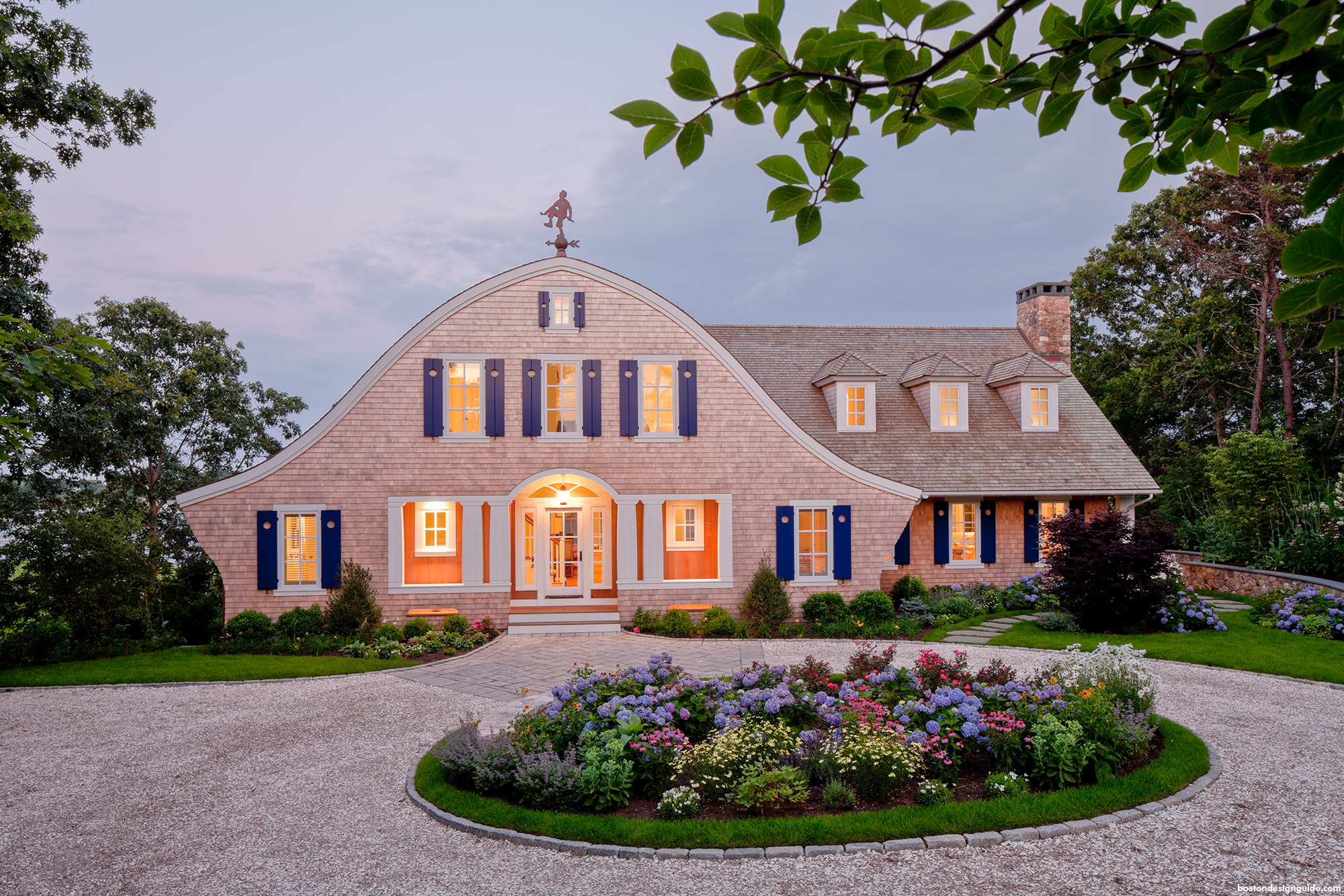 A cape cod shingle style home turns on the charm boston for Cape cod architects