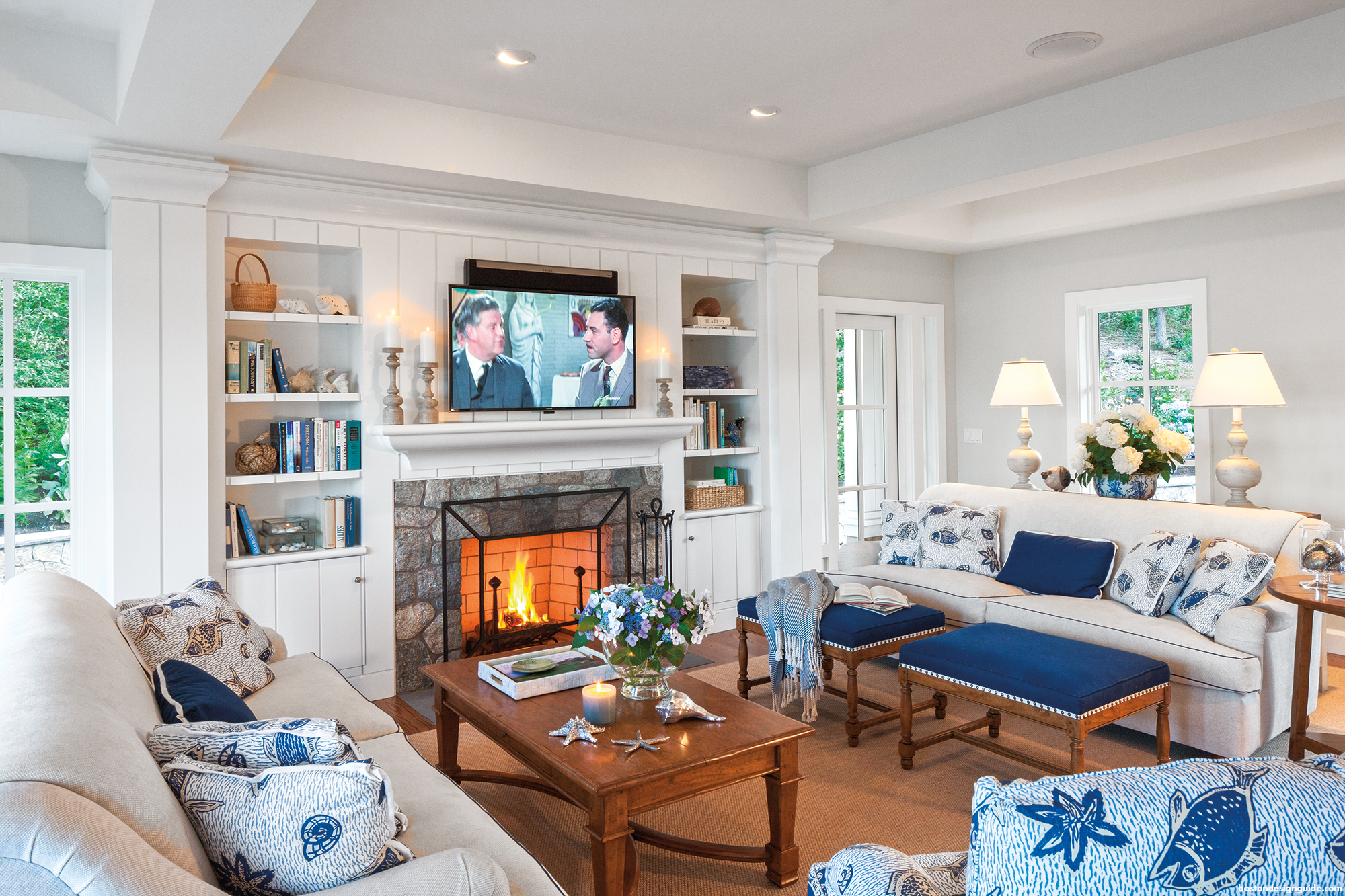 New England Interior Design Living Room
