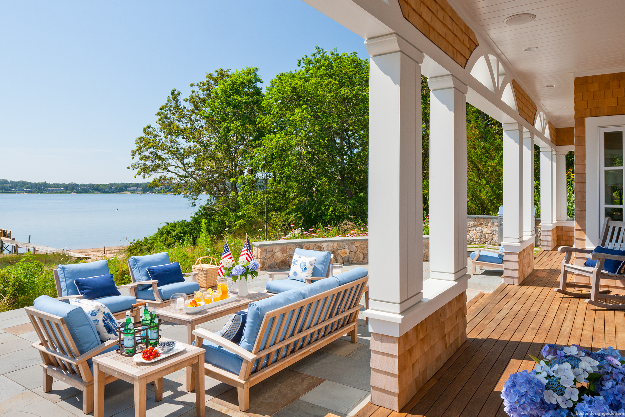 A cape cod shingle style home turns on the charm budget for Coastal homes