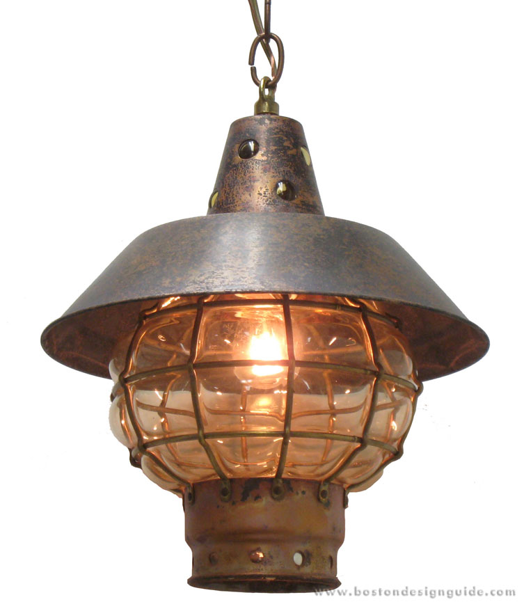 "High-end ""antiqued"" globe light"